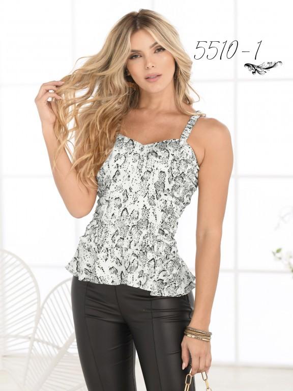 Blusa Moda Colombiana - Ref. 252 -5510 Blanco