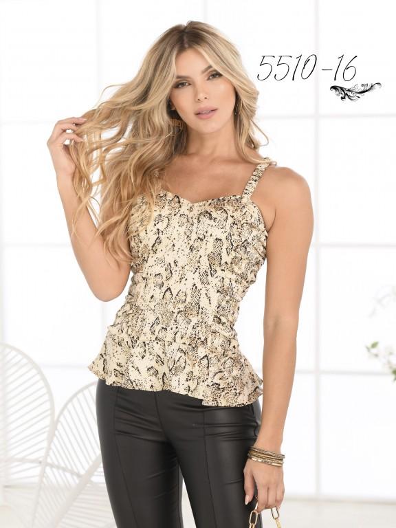 Blusa Moda Colombiana - Ref. 252 -5510 Beige