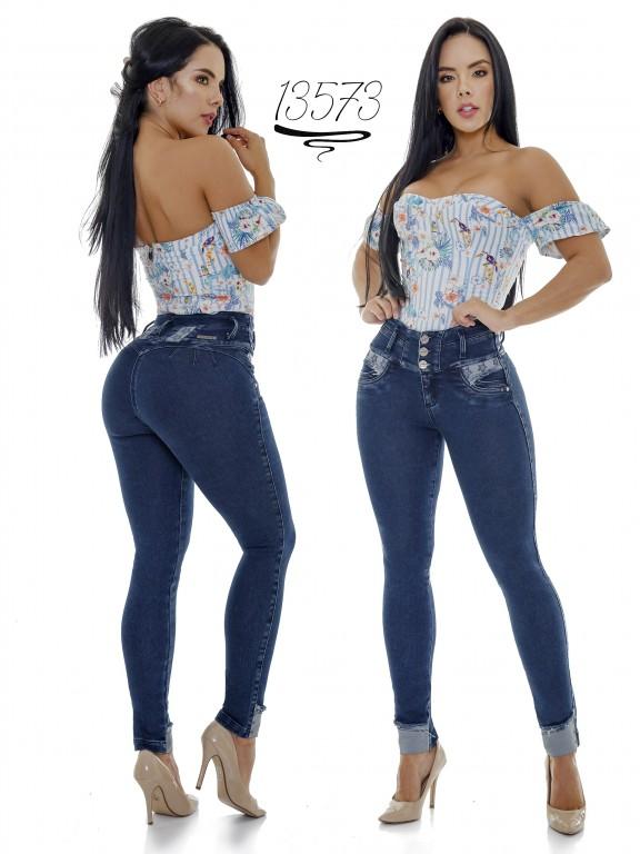 Jeans Levantacola Colombiano Cheviotto - Ref. 101 -13573