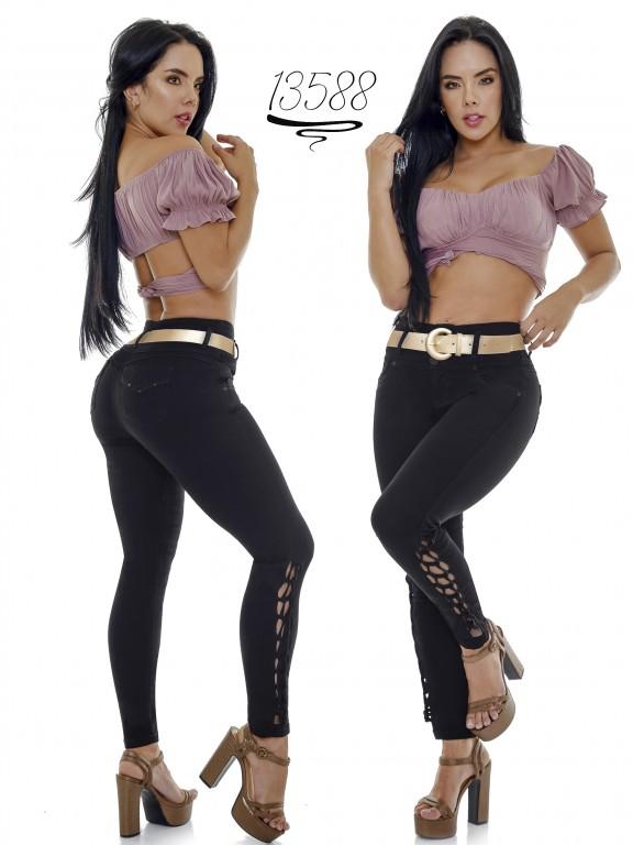 Jeans Levantacola Colombiano Cheviotto - Ref. 101 -13588
