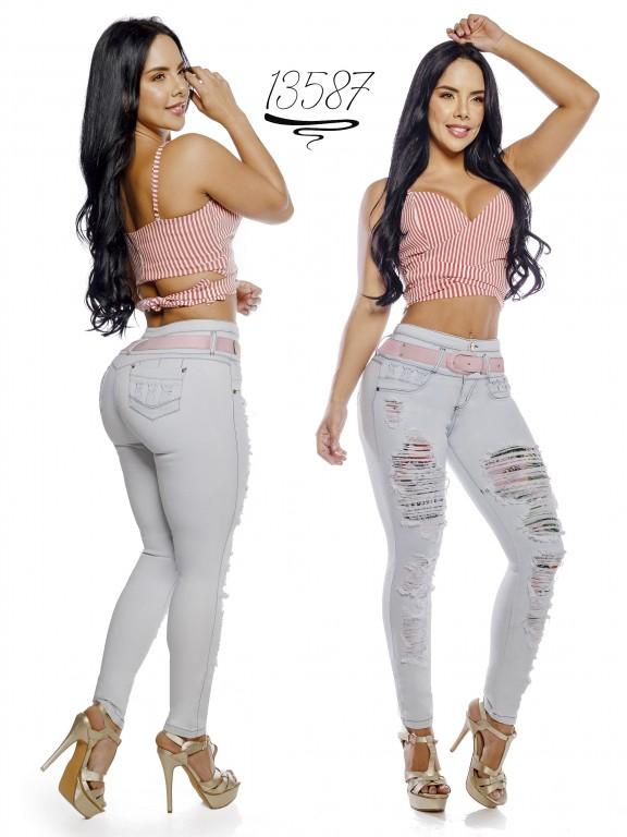 Jeans Levantacola Colombiano Cheviotto - Ref. 101 -13587