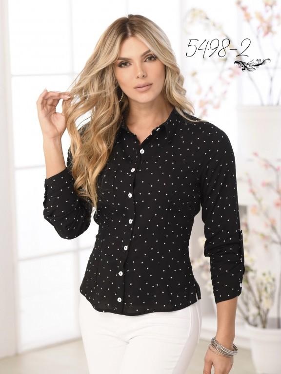 Blusa Moda Colombiana - Ref. 252 -5498 Negro