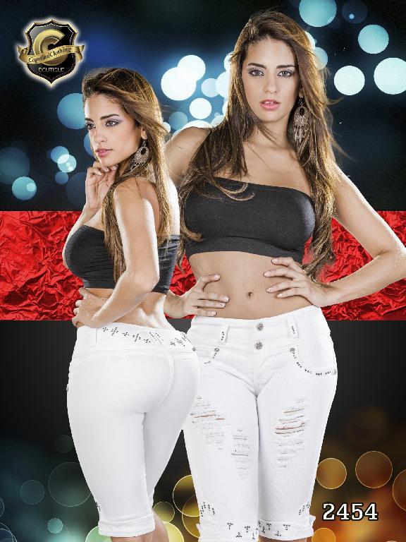 Jeans Levantacola Colombiano Capellini Boutique - Ref. 106 -2454