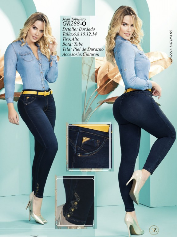Jeans Levantacola Colombiano - Ref. 306 -288 Oscuro