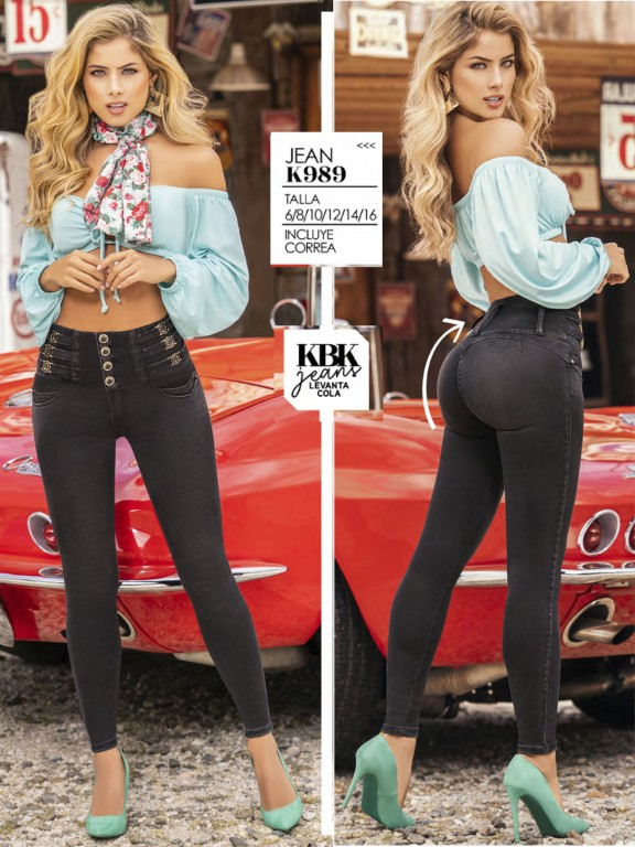 Jeans Levantacola Colombiano - Ref. 119 -989K