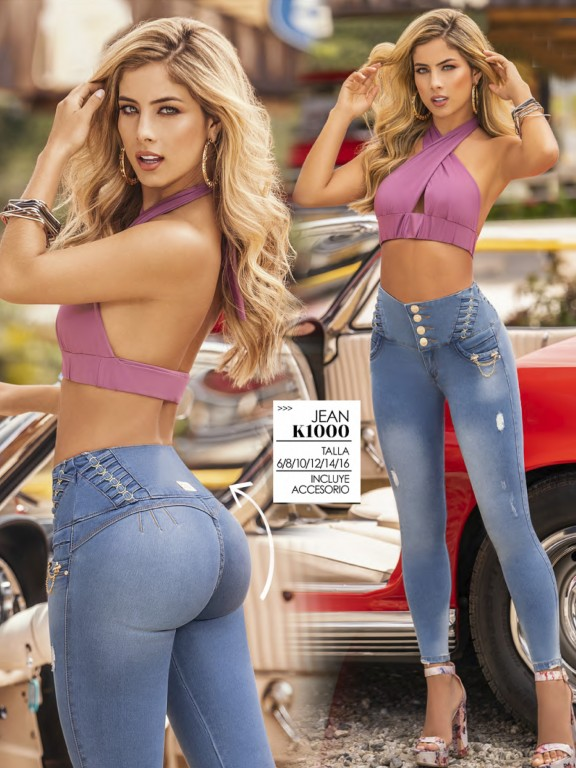 Jeans Levantacola Colombiano - Ref. 119 -1000K