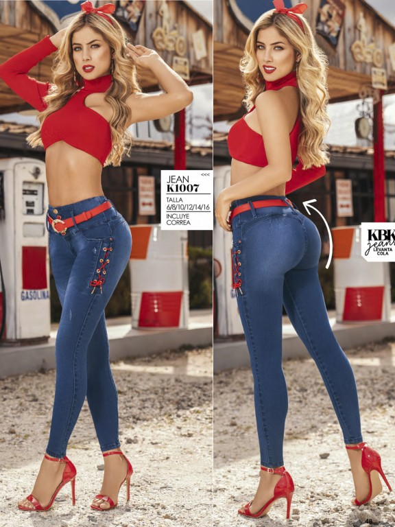 Jeans Levantacola Colombiano - Ref. 119 -1007K