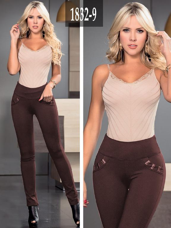 Leggins Colombiano Cafe Plus Size - Ref. 275 -1832-9 Plus Size