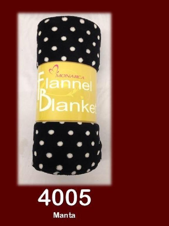 Manta 50X60 Negra - Ref. 272 -4005-2 50X60 Negra