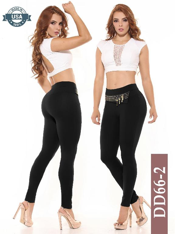 Leggings Azulle Fashion - Ref. 256 -DD66-2 Negro