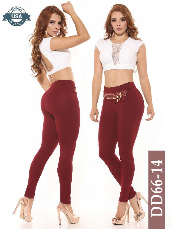 Leggings Azulle Fashion - Ref. 256 -DD66-14 Vino Tinto