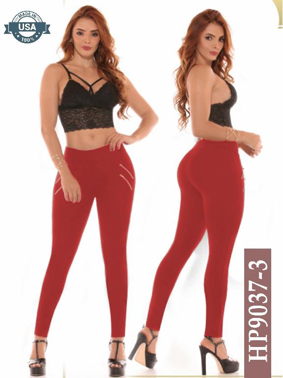 Leggins Azulle Fashion - Ref. 256 -HP9037-3 Rojo