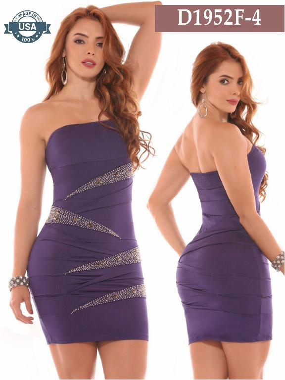 Azulle Fashion Dress - Ref. 256 -D1952F-4 Morado