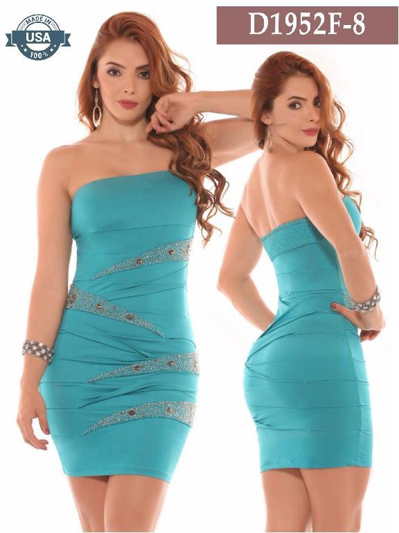 Vestido Azulle Fashion - Ref. 256 -D1952F-8 Verde
