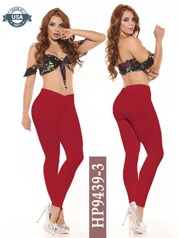 Leggings Azulle Fashion - Ref. 256 -HP9439-3 Rojo