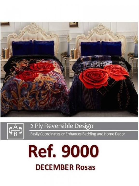 Cobija K Rosa Rosas Rojas - Ref. 272 -9000 K Rosas