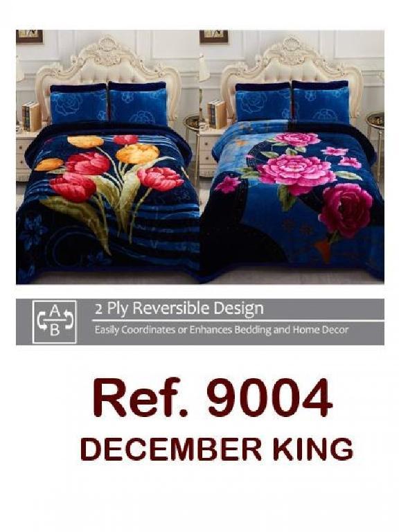 Cobija  Rosas Rojas - Ref. 272 -9004 K Tulipanes En Azul
