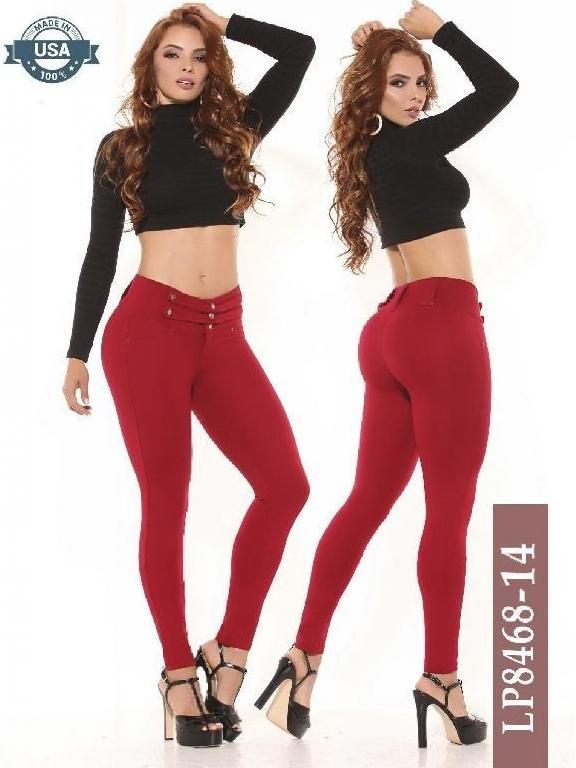 Pantalon Clasico Azulle Fashion - Ref. 256 -8468-14 Vinotinto