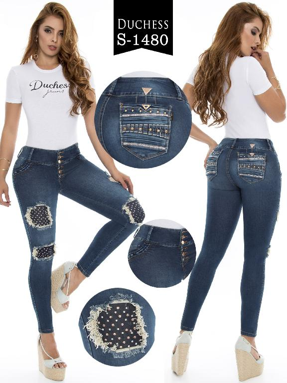 Jeans Levantacola Colombiano  - Ref. 237 -1480-S