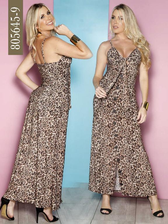 Vestido Colombiano - Ref. 266 -805645-9 Cafe
