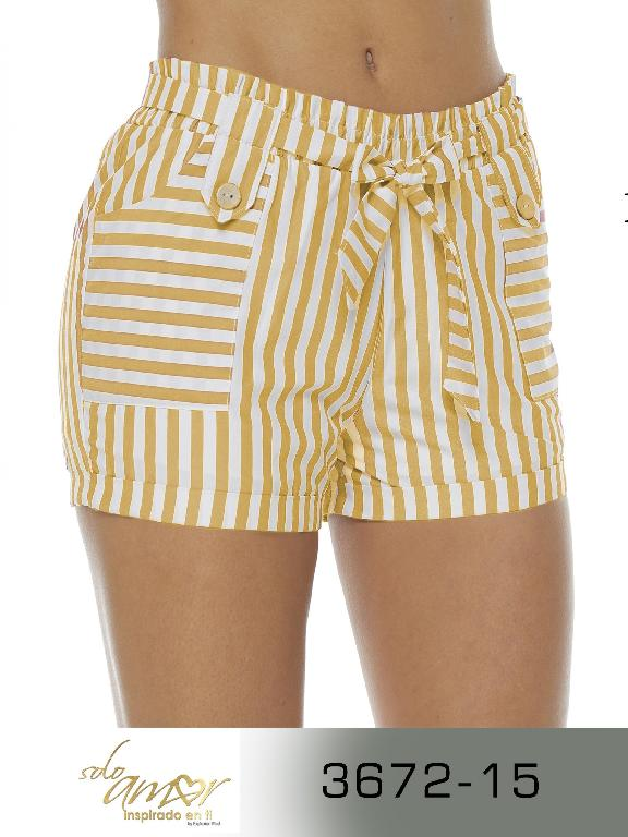 Short Colombianoq - Ref. 246 -3672-15 Amarillo