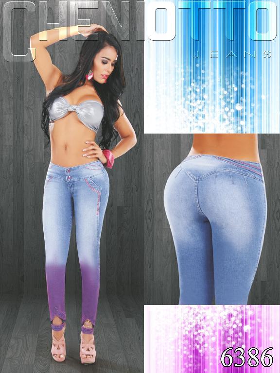 Jeans Dama Levantacola Cheviotto - Ref. 101 -6386