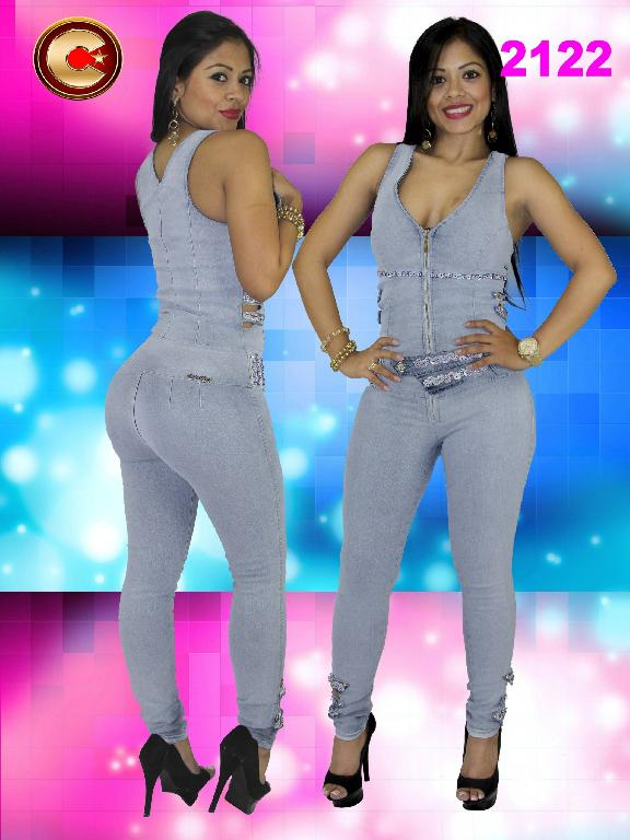 Colombian Sexy Jumpsuit Butt Lifting Sky Blue Capellini - Ref. 102 - 2122