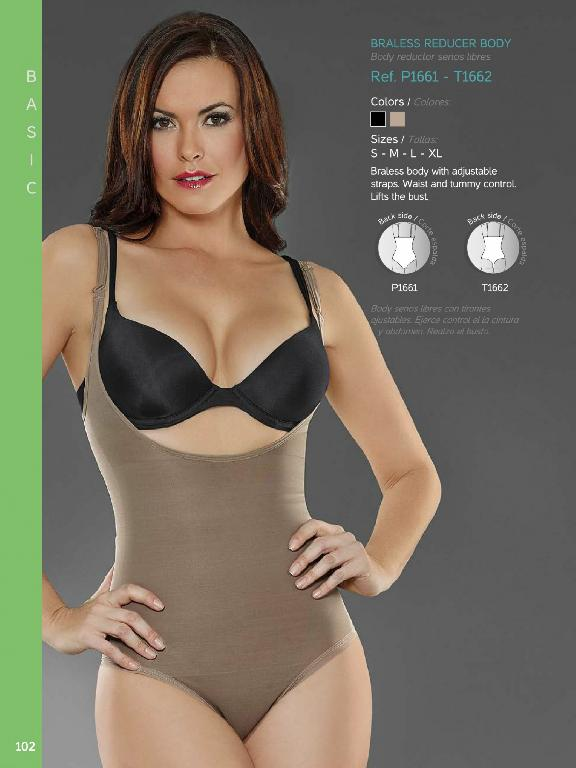 Braless Body With Adjustable Straps - Ref. 136 -1661