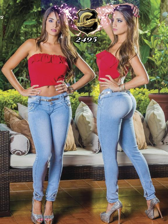 Colombian Butt Lifting Jeans Blue Capellini Boutique - Ref. 106 -2495
