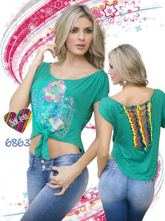 Blusa Moda Chicle Rosa - Ref. 112 -6863
