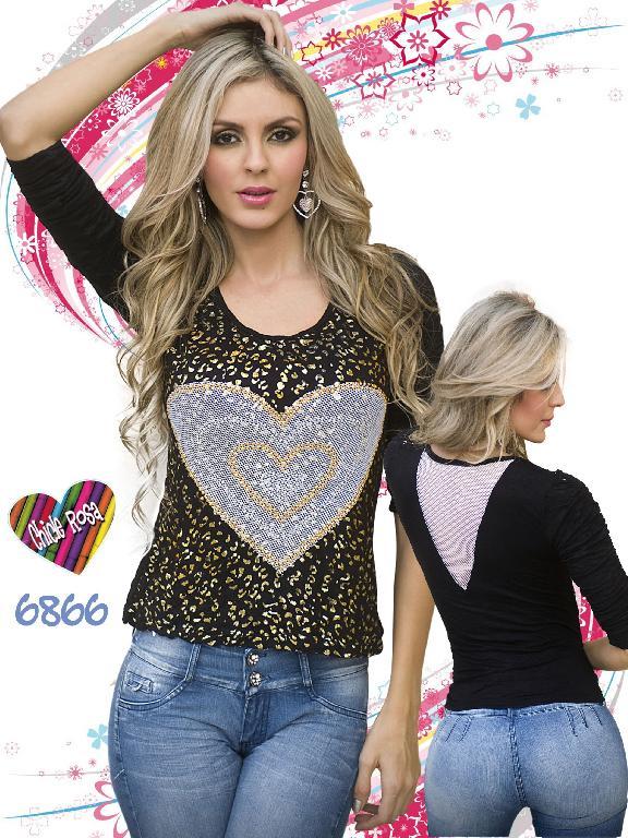 Blusa Moda Chicle Rosa - Ref. 112 -6866