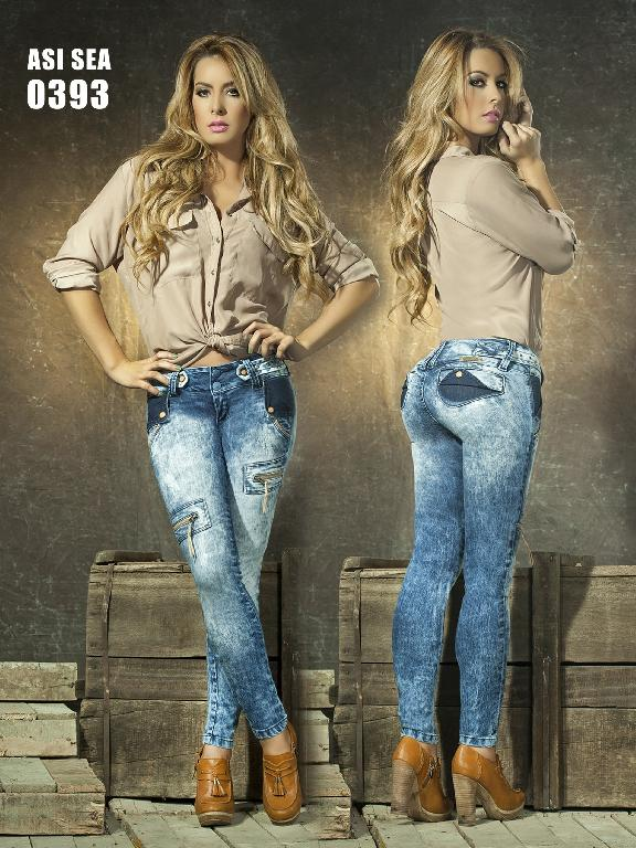 Colombian Butt lifting Jeans - Ref. 124 -0393