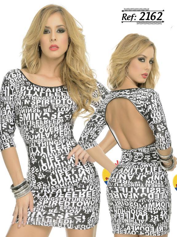 Vestido Colombiana Cereza - Ref. 111 -2162
