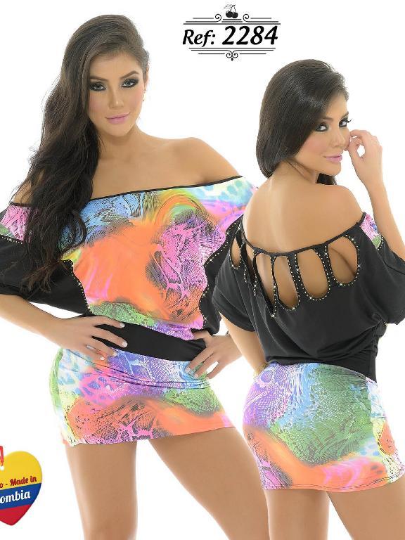 Vestido Moda Colombiano Cereza - Ref. 111 -2284