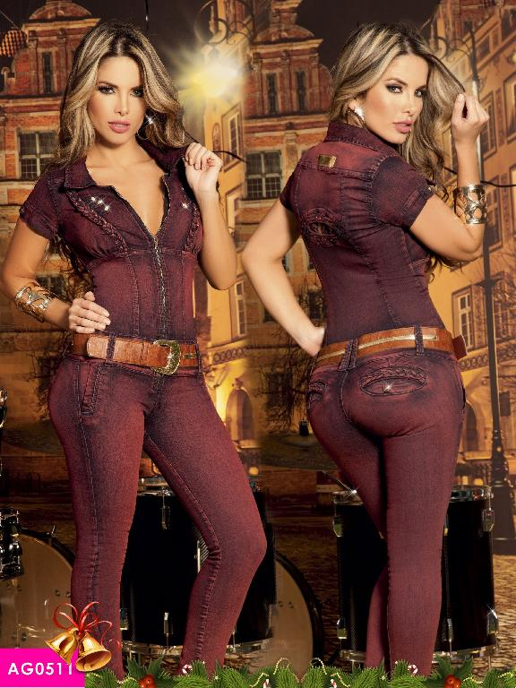 Colombian Butt Lifting JumpSuit Purple Color  Asi Sea  - Ref. 124 -0511