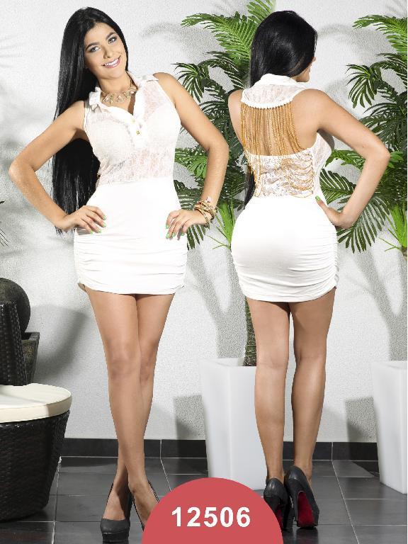 Vestido Moda Colombiano Chicle Rosa - Ref. 112 -12506