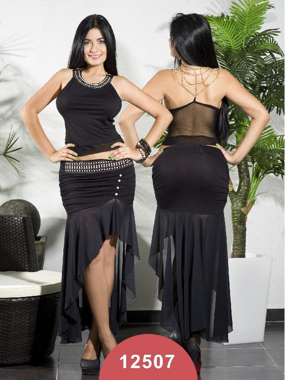 Conjunto Moda Colombiano Chicle Rosa - Ref. 112 -12507