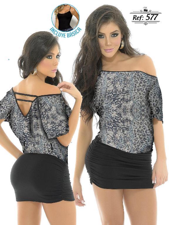 Vestido Moda Colombiano Cereza - Ref. 111 -577