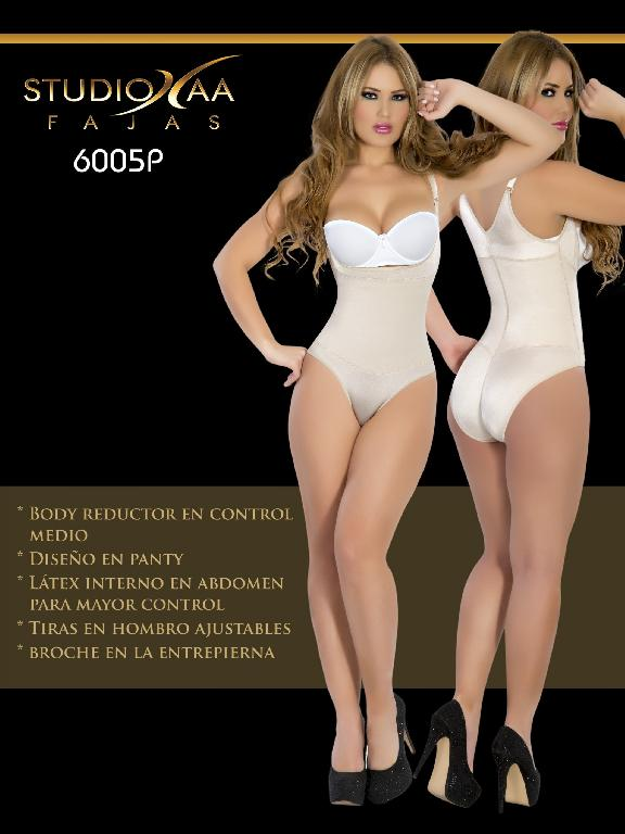 Faja Colombiana Studio AA - Ref. 110 -6005 Panty Beige