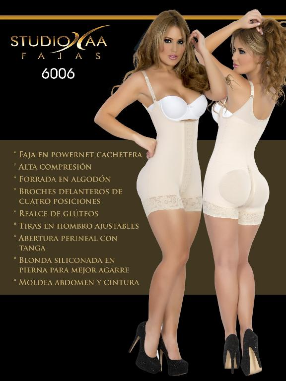 Faja Colombiana Studio AA - Ref. 110 -6006 Beige
