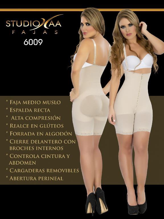 Faja Colombiana Studio AA - Ref. 110 -6009 Beige