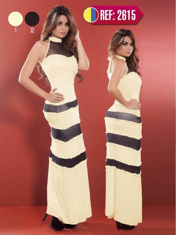 Vestido Largo Modo Cereza - Ref. 111 -2615 Negro