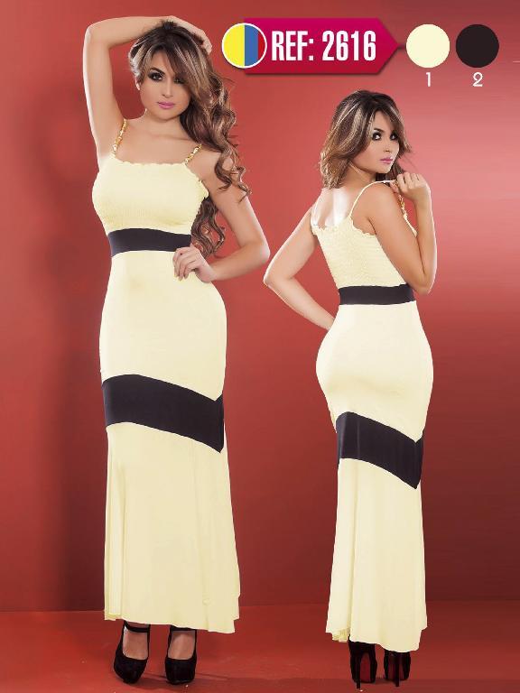 Vestido Largo Moda Cereza - Ref. 111 -2616 Beige