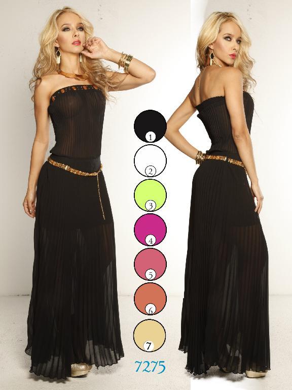 Vestido Moda Colombiana Yes Brazil - Ref. 113 -7275 Naranja