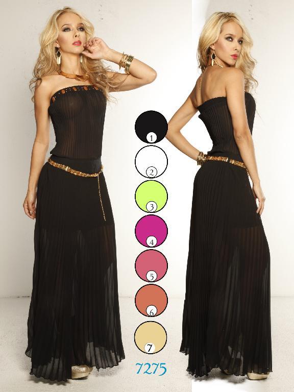 Vestido Moda Colombiana Yes Brazil - Ref. 113 -7275 Beige