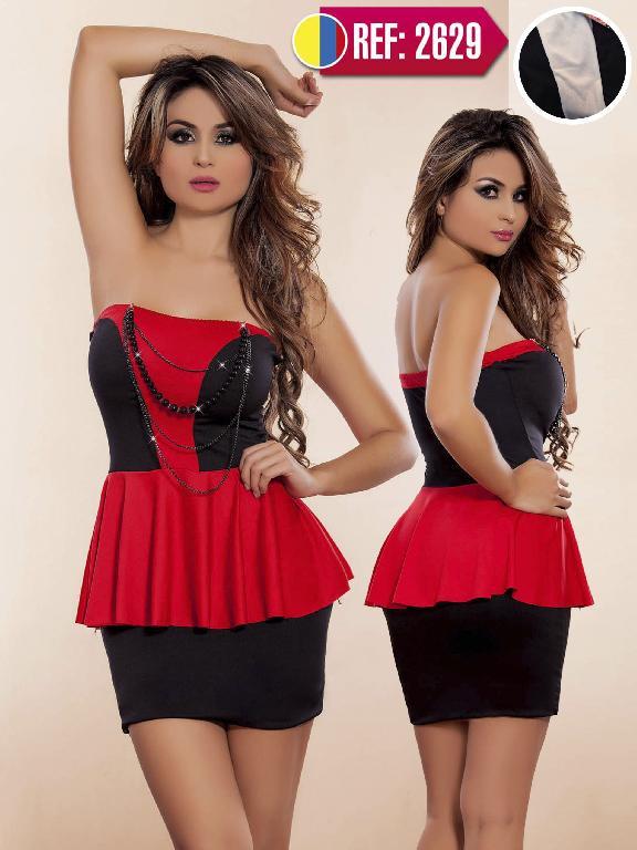 Vestido Colombiano Cereza  - Ref. 111 -2629 Beige