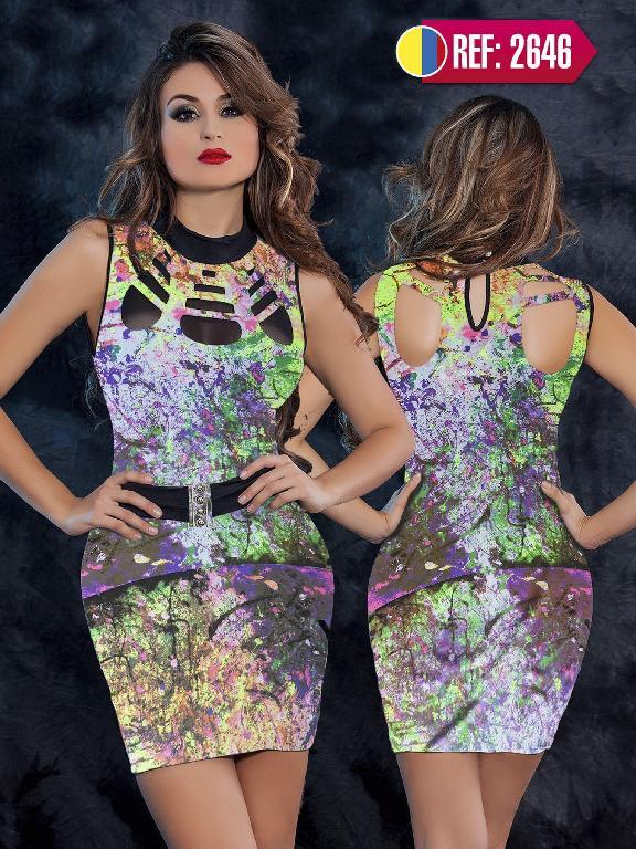 Vestido Colombiano Cereza  - Ref. 111 -2646