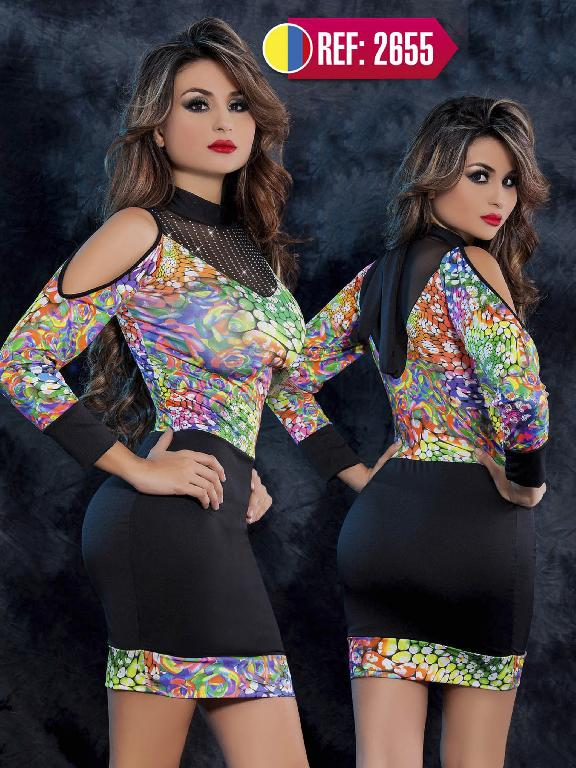 Vestido Moda Cereza  - Ref. 111 -2655