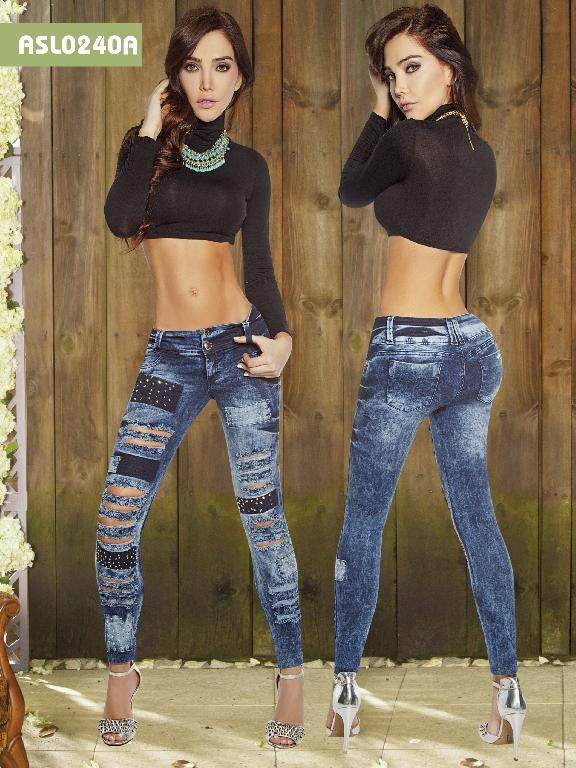 Jeans Levantacola Colmbiano Asi Sea  - Ref. 124 -0240A