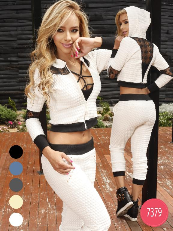 Conjunto Colombiano Yes Brazil  - Ref. 113 -7379 Gris